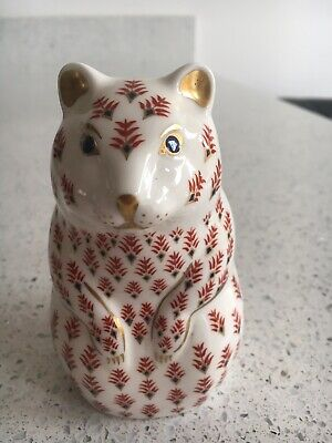 Royal Crown Derby Hamster Paperweight 2nd Quality/Silver Stopper, No Box • 5£