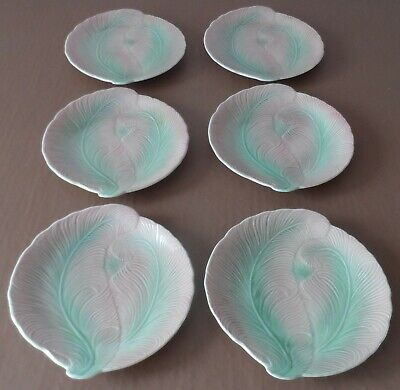 Slyvac Cabbage Plant Dishes..Set Of 6 • 75£