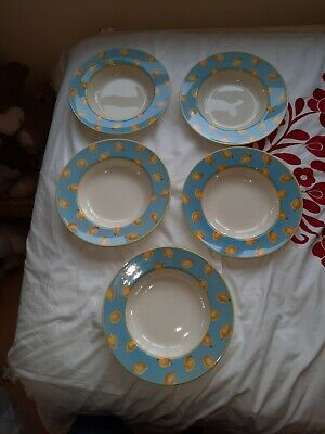 Royal Stafford 5x Rimmed Soup Dishes • 8£