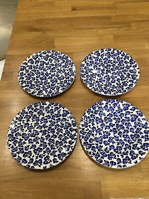 English Ironstone EIT Blue And White Like Burleigh 4 Side Plates • 10£