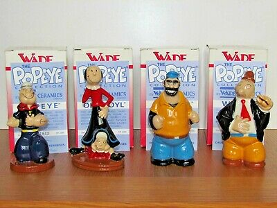 Wade Popeye Collection. Full Set. Popeye, Olive + Sweet Pea, Brutus, Wimpey.. • 215£