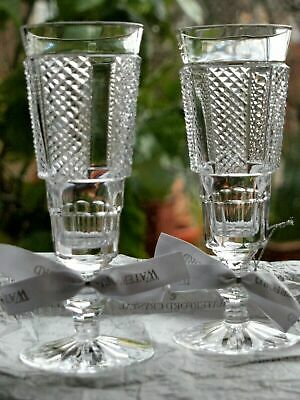 Waterford Crystal Hibernia Champagne Glass Pair Brand New Made In Ireland • 150£