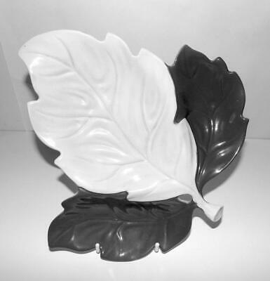 Carlton Ware Leaf Pattern Tray With Three Compartments Glazed In White And Grey • 3.99£