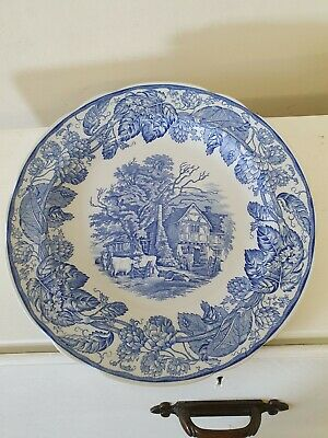 Spode Blue Room Collection 'Rural Scenes' 26.5cm Plate • 10£