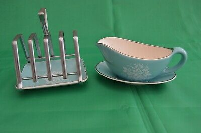 Sandland Ware Jug/Saucer And Toast Rack • 2£