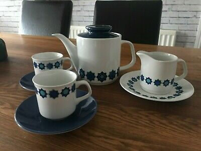 Meakin Studio Cadiz - Retro Tea Set For 2 • 25£
