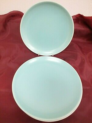 Vintage Ice Green Twintone Poole Pottery 7  Plates  (Mar) • 4.99£