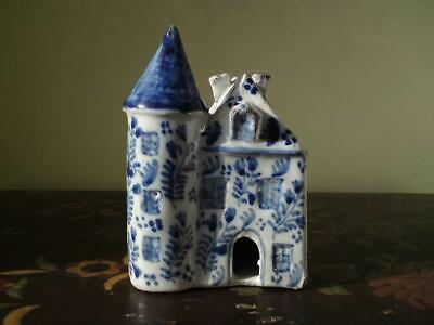 Antique Blue And White Tin-Glazed Earthenware Dutch Delft Miniature House Signed • 25£