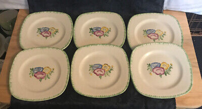 6 Portland Pottery Ltd Regal Works Cobridge Tea Plates • 5£