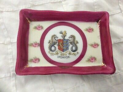 EMPIRE CRESTED IPSWICH PIN DISH 4 X 2.5ins Approx • 6£