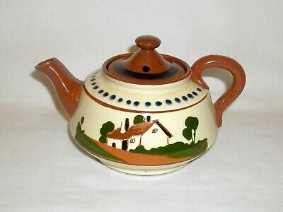 Vintage Watcombe Pottery Torquay Motto Ware Small Teapot,  Drown Your Sorrows  • 3.50£