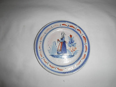 Early Quimper Faience Small Plate • 12£