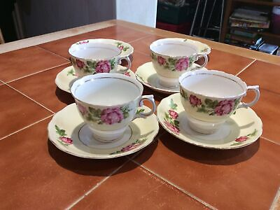 Colclough Vintage Teacups And Saucers Pink Roses • 6.99£