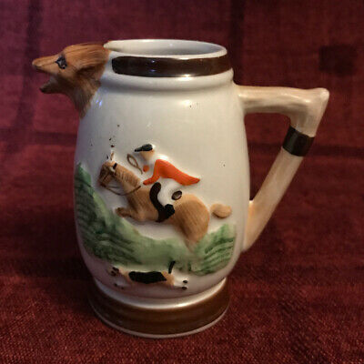 Keele Street Pottery Fox Hunting Milk Jug, Cottage Ware • 3£