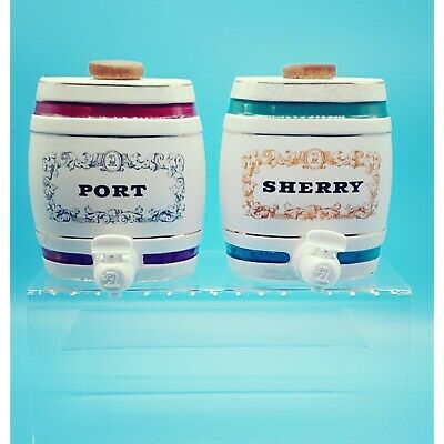 Vintage Wade Pottery Royal Victoria Ceramic Sherry And Port Barrels With Taps • 19.95£
