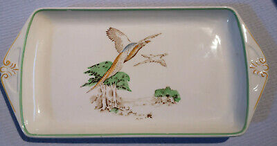 Vintage Wood & Sons October Pattern Pottery Rectangle Dish. Hand Painted • 14.99£