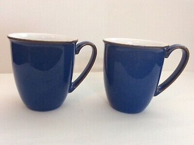 Denby Imperial Blue | Pair Of Coffee Mugs | Excellent Condition • 5.80£