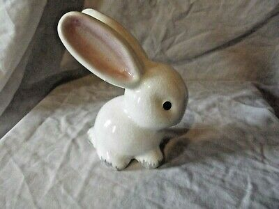 Vintage & Rare Wemyss Bovey Plichta  White With Pink Ears Bunny Rabbit  • 65£