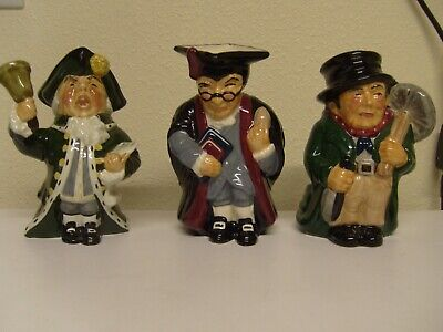 3 Large Roy Kirkham Toby Jugs, The Sweep, The Town Crier, The Schoolmaster • 14£