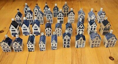 KLM Bols Delft Style Houses X 32 Early Pieces Inc. Ashtray House & Unnumbered • 30£