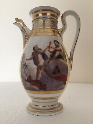 Naples Porcelain Rare Mythological Painted Scenes Nice Coffee Pot C1790 • 650£