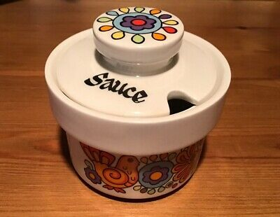 Mid Century Lord Nelson Pottery 'Gaytime' Lidded Sauce Pot. • 18£