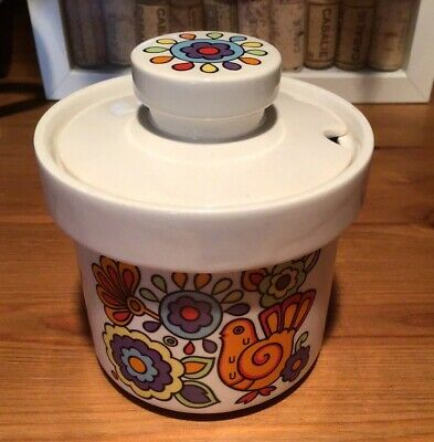 Mid Century Lord Nelson Pottery 'Gaytime' Preserve Pot • 15£