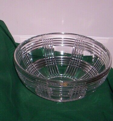 RALPH LAUREN Crystal GLEN PLAID BOWL - 9 1/2  NO Box New, Unused • 127.04£
