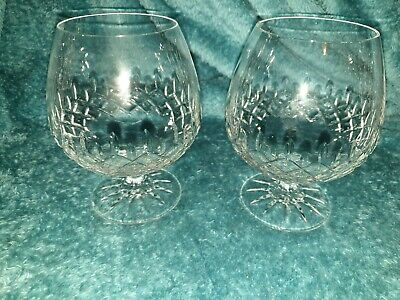 Pair Of Lovely Galway Crystal Brandy Snifter Glasses - 5 Inch Tall - VGC • 14£