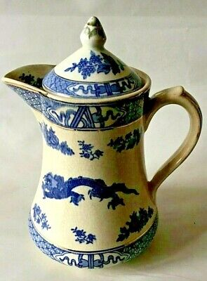 Booths Blue And White Dragon Pattern Coffee Pot • 4.99£
