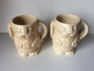 Ringtons Tea, Pair Of Rabbit Cups By Wade • 12.50£