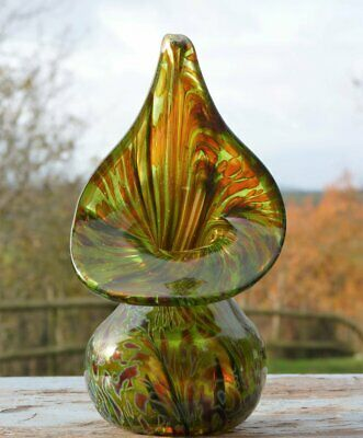 Alum Bay Studio Art Glass Jack In The Pulpit Vase Isle Of Wight • 29.99£
