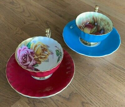 Pair Of Vintage Aynsley Fine Bone China Cup And Saucers • 23£