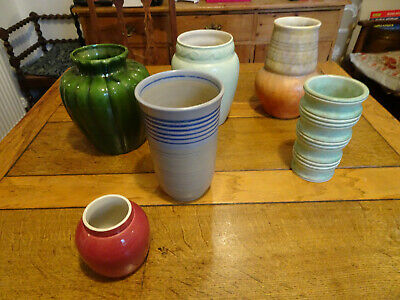 Art Deco Pottery Grays, Clewes Etc From Early 20th Century - 6 Pieces • 45£