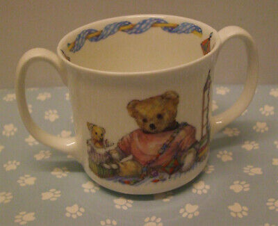 Colour Box Queen's Teddy Two Handled Childrens Cup • 3£
