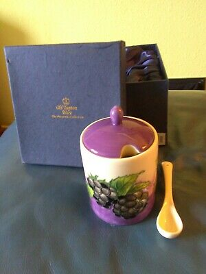 Old Tupton Ware Blackberry Jam Pot The Preserve Collection With Spoon And Box. • 11£