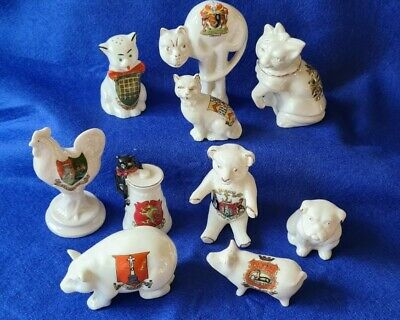 Collection Of 10 Crested China Animals • 34£