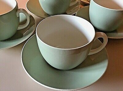 Poole Pottery Celadon Green Breakfast Cup And Saucer • 5.99£