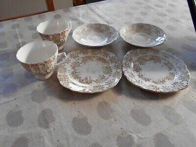 Royal Vale Bone China Gold Chinz Tea Set. Retro / Vintage • 7.20£