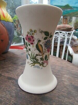 Purbeck Pottery Swanage Peacock Design Vase • 5£