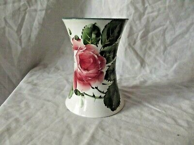 Wemyss Ware Waisted Vase With Rose Decoration And Retailers Stamp To The Base. • 145£