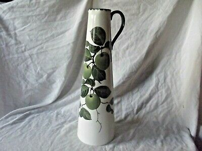Wemyss Bristol Poutney Tall Jug / Vase With Green Apples Decoration Signed Base. • 225£