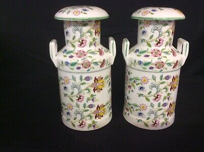 """1 Pair Of 9""""Bone China Churns Highly Decorated In The Haddon Hall Design • 97.50£"""