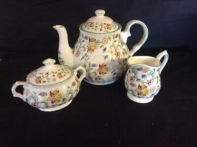 Teapot Covered Sugar And Jug In Minton Ctinze MADE IN ENGLAND • 67.50£