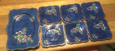 Lovely Art Deco Grimwades  Royal Winton Sandwich Set Tray And 6 Plates  1 A/f • 24.99£