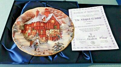 The Bradford Exchange Royal Doulton Christmas Collection 1999 The Magical Window • 10£