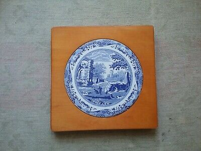 Vintage COPELAND SPODE ITALIAN PATTERN  Cheese Board Chopping Board Teapot Stand • 32£