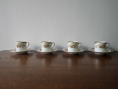 Shelley Coffee Cups And Saucers • 40£