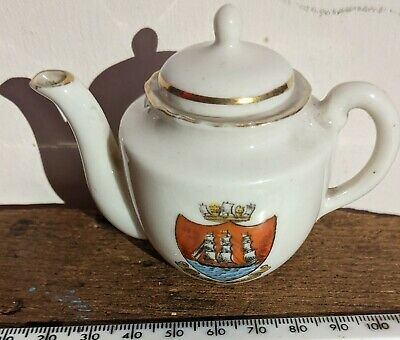 Crested Ware Gemma Ware Tea Pot With Lid Morecambe • 12£