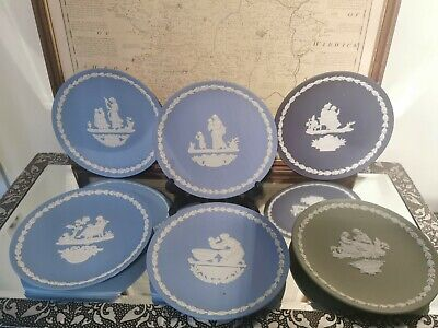 Wedgwood Jasper Ware Set Of Mother Plates 1972-1976 • 24£